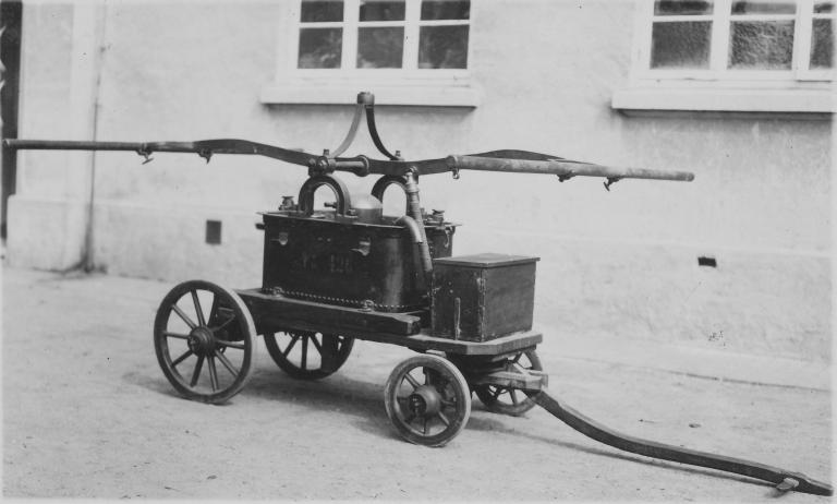Erste Brandspritze der Feuerwehr Vechta aus dem Jahr 1891