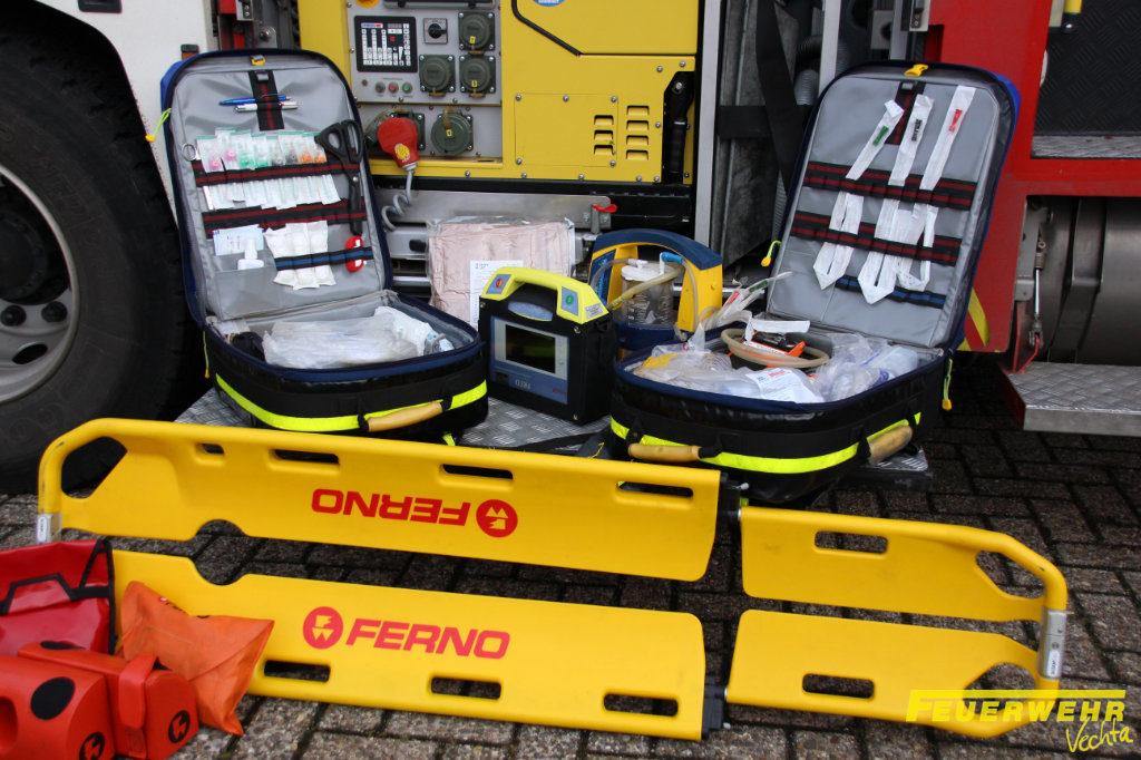 Notfallmedizinische Ausrüstung bei der Feuerwehr