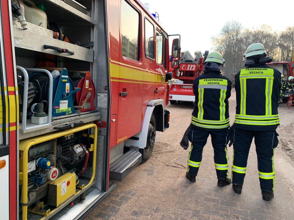 Feuer im Gebäude, Unterstützung der FF-Goldenstedt