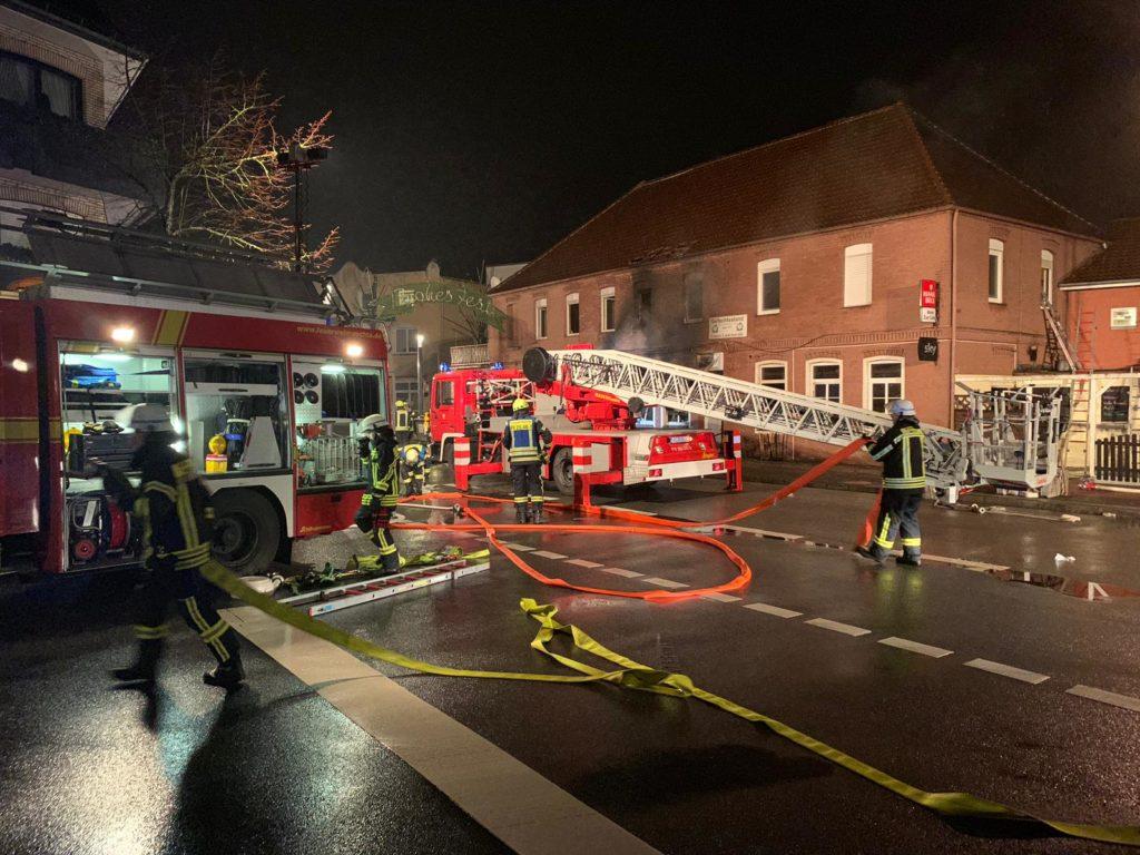 Gebäudebrand, Unterstützung der FF-Lohne